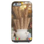 Conos del gelato del helado en la exhibición de la funda resistente iPhone 6