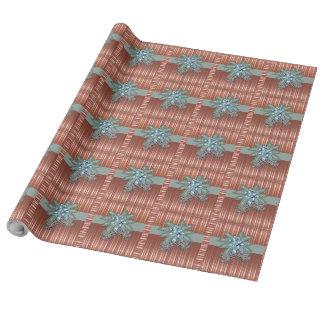 Conos del pino - arco + Rayas - papel de embalaje