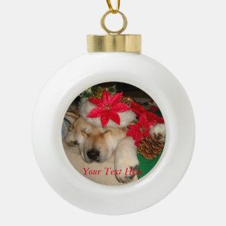 conos lindos del gorra del navidad el dormir del adorno de cerámica en forma de bola