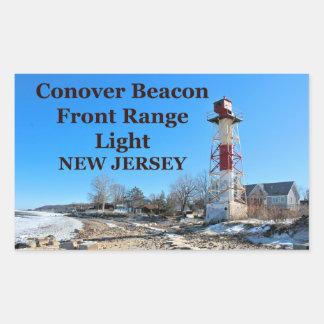 Conover Beacon Front Range Light, NJ Sticker Rectangular Sticker