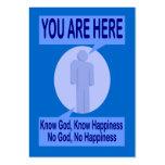 Conozca a dios, sepa de la felicidad de la zona tarjetas de negocios