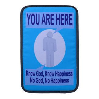 Conozca a dios sepa la felicidad fundas MacBook