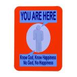 Conozca a dios, sepa la felicidad iman flexible