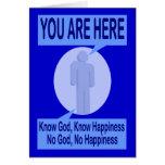 Conozca a dios, sepa la felicidad. Ningún dios, Tarjeta De Felicitación
