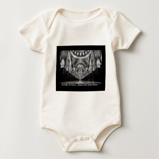 Conozca a dios trajes de bebé
