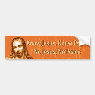 Conozca a Jesús Pegatina Para Auto