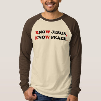 CONOZCA A JESÚS, SEPA LA PAZ PLAYERAS