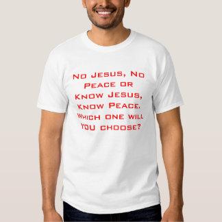 Conozca a Jesús, sepa la paz Poleras