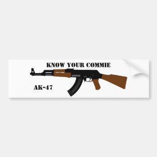 Conozca a su pegatina para el parachoques de AK-47 Pegatina Para Auto