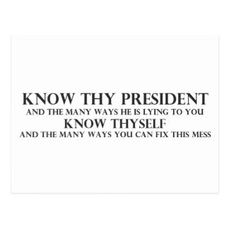 Conozca a Thy presidente Tarjetas Postales