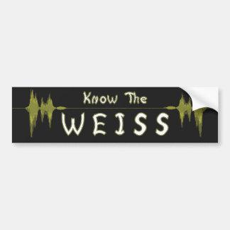 Conozca al Weiss Pegatina Para Auto