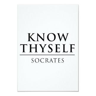 "Conozca Thyself - Sócrates Invitación 3.5"" X 5"""