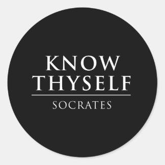 Conozca Thyself - Sócrates Pegatina Redonda