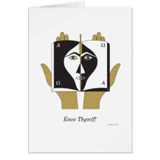 ¡Conozca Thyself! Tarjeta De Felicitación