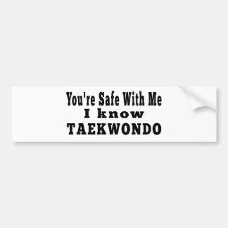 Conozco el Taekwondo Pegatina Para Auto