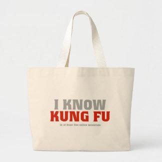 Conozco Kung Fu - en por lo menos cinco universos  Bolsa De Mano