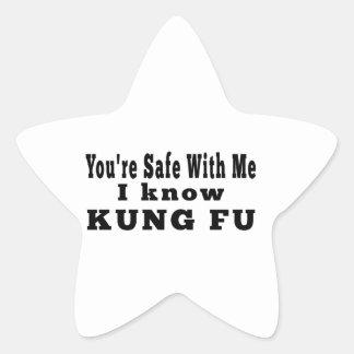 Conozco Kung Fu Pegatinas Forma De Estrellaes Personalizadas