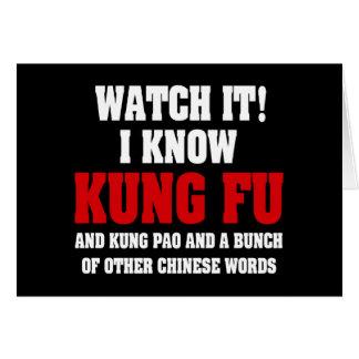 Conozco Kung Fu Tarjeta De Felicitación