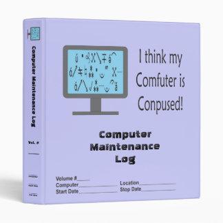 Conpused Comfuter Log! Avery Binder
