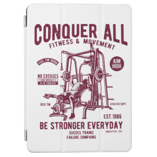 Conquer All Fitness Be Stronger Every Day iPad Air Cover