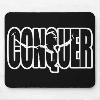 CONQUER (Body building Motivation) Mouse Pad
