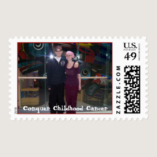 Conquer Childhood Cancer Postage
