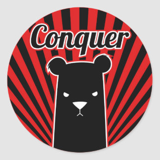 Conquer command classic round sticker