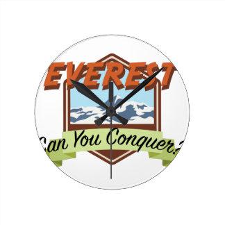 Conquer Everest Round Clock