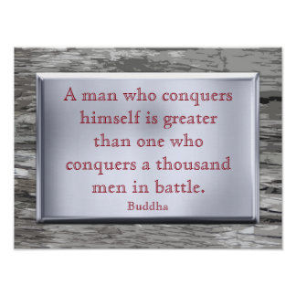 Conquer himself - Buddha quote - art print