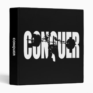 CONQUER - Olympic Weightlifting - Gym Motivational Binder