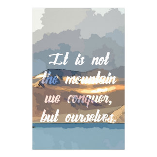 Conquer Ourself Stationery