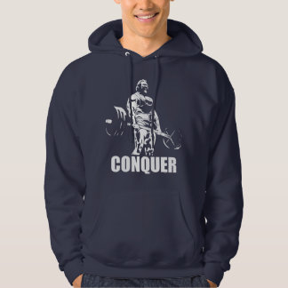 CONQUER - Powerlifting Motivation Hoodie