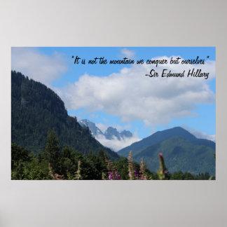 Conquer the Mountain Poster