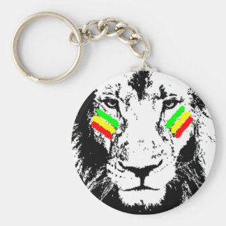 Conquering Lion Rasta Eye Black Keychain