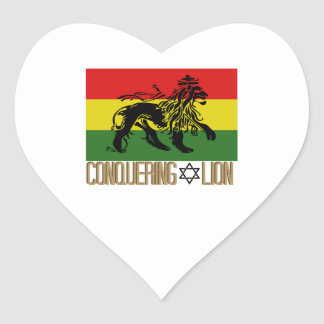 Conquering Lion Heart Sticker