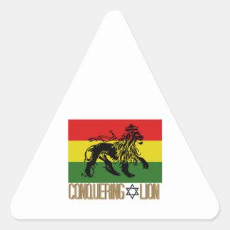 Conquering Lion Triangle Sticker