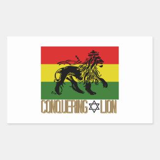 Conquering Lion Rectangular Sticker