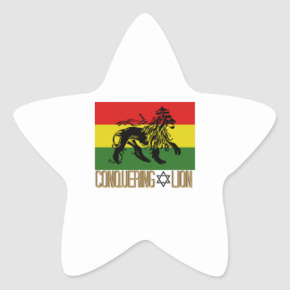 Conquering Lion Star Sticker