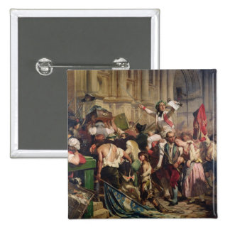 Conquerors of  Bastille before the Hotel de Button