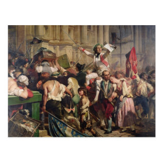 Conquerors of  Bastille before the Hotel de Postcard