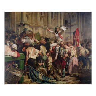 Conquerors of  Bastille before the Hotel de Poster