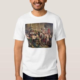 Conquerors of  Bastille before the Hotel de Shirt
