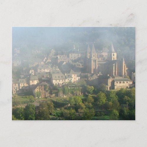 Conques, France postcard postcard