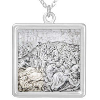 Conquest of Jerusalem by Charlemagne Silver Plated Necklace
