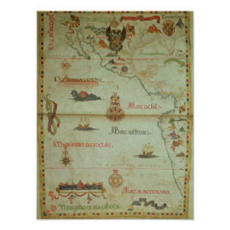 Conquest of Mexico and Peru Poster