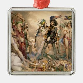 Conquest of Mexico Metal Ornament