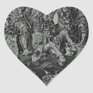 Conquest of Tunis (Victory of Charles V) by Maerte Heart Sticker
