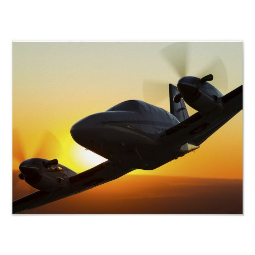 Conquest Sunset Climb Out Poster