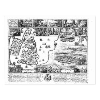 Conquests of Gustavus II Adolphus Postcard