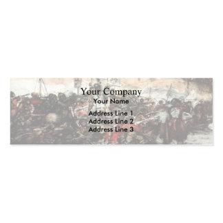 Conquista de Vasily Surikov- Yermak de Siberia Tarjeta De Visita